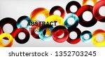modern geometric circles... | Shutterstock .eps vector #1352703245