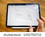 paris  france   mar 27  2019 ... | Shutterstock . vector #1352703722