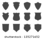 blank badges and shields | Shutterstock .eps vector #135271652