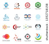abstract logo set   isolated on ... | Shutterstock .eps vector #1352718158