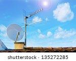 Satellite Dish And Tv Antenna...