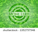 monetary green emblem with... | Shutterstock .eps vector #1352757548