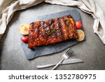 grilled and barbecue ribs pork   Shutterstock . vector #1352780975