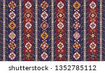 colorful oriental mosaic rug... | Shutterstock .eps vector #1352785112