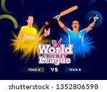 cricket league concept with... | Shutterstock .eps vector #1352806598