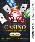 casino gambling tournament... | Shutterstock .eps vector #1352812778