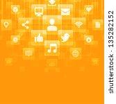 social media icons vector... | Shutterstock .eps vector #135282152