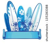 surfboard background 2 | Shutterstock .eps vector #135283388