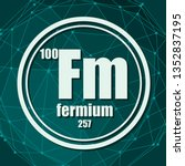 fermium chemical element. sign... | Shutterstock .eps vector #1352837195