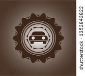 car seen from front icon inside ... | Shutterstock .eps vector #1352843822
