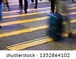people person on zebra crossing ... | Shutterstock . vector #1352864102