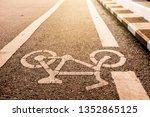 Bicycle Lane Painted Symbol On...
