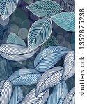 background wallpaper leaves... | Shutterstock .eps vector #1352875238