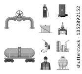 vector illustration of oil and... | Shutterstock .eps vector #1352892152