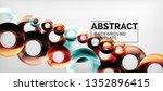 modern geometric circles... | Shutterstock .eps vector #1352896415