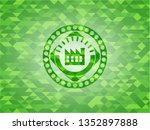 factory icon inside realistic...   Shutterstock .eps vector #1352897888