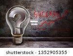 lamp of idea for success | Shutterstock . vector #1352905355