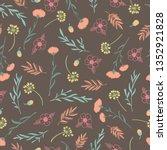 spring theme seamless pattern... | Shutterstock .eps vector #1352921828