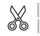 scissors icon in trendy outline ...