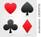 set of vector playing card... | Shutterstock .eps vector #135293732