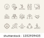 productivity icons. line icons... | Shutterstock .eps vector #1352939435