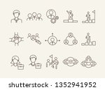 business team icons. line icons ... | Shutterstock .eps vector #1352941952