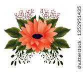 floral tropical cartoon   Shutterstock .eps vector #1352951435
