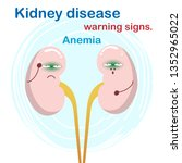 sign and symptom of kidney... | Shutterstock .eps vector #1352965022