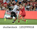 singapore april 28 fiji 7s team ...   Shutterstock . vector #1352999018