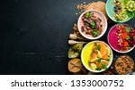 a great set of colored fruit... | Shutterstock . vector #1353000752