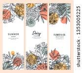 spring vertical banner design...   Shutterstock .eps vector #1353005225