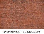 red brick wall texture...   Shutterstock . vector #1353008195