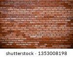 red brick wall texture...   Shutterstock . vector #1353008198