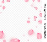 pink sakura falling petals...   Shutterstock .eps vector #1353025652