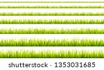 grass banner. cereal sprouts.... | Shutterstock .eps vector #1353031685