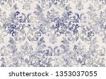 rococo texture pattern vector.... | Shutterstock .eps vector #1353037055