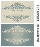 invitation cards in an old... | Shutterstock .eps vector #135305246