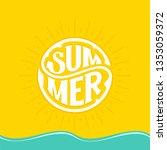 summer banner design.... | Shutterstock .eps vector #1353059372