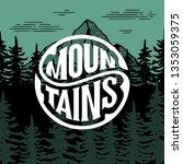 mountains emblem  badge.... | Shutterstock .eps vector #1353059375