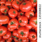 red tomatoes background | Shutterstock . vector #135308822