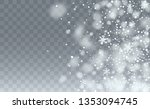realistic snow background.... | Shutterstock .eps vector #1353094745