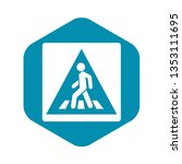 pedestrian road sign icon in... | Shutterstock .eps vector #1353111695