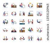 restaurant and meetings flat... | Shutterstock .eps vector #1353120965