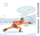 warrior retiarius gladiator in... | Shutterstock .eps vector #1353123338