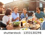 leisure and people concept  ... | Shutterstock . vector #1353130298