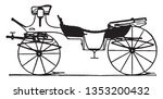 vis a vis phaeton is a carriage ... | Shutterstock .eps vector #1353200432