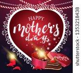 happy mother's day  modern...   Shutterstock .eps vector #1353218438
