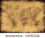 ancient map of the world | Shutterstock . vector #13532236