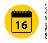 16 calendar yellow vector icon  ... | Shutterstock .eps vector #1353239075