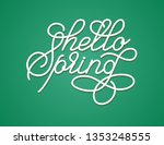 hello spring greeting card.... | Shutterstock .eps vector #1353248555